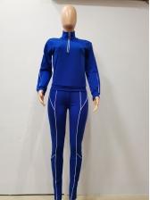 Stand Collar Half Zip Womens Tracksuit Set