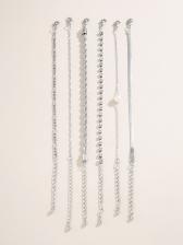 Online Simple Rhinestone Bracelet Set