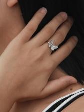 Easy Matching Butterfly Rhinestone Women Ring