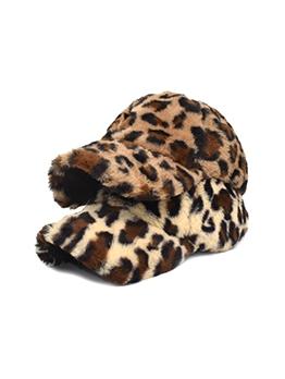 Leopard  Fashion Plush Baseball Cap