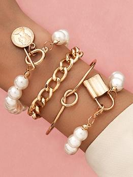 Easy Matching Faux-Pearl Bracelet Set