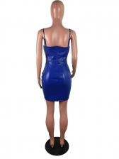 Sexy V Neck Solid Camisole Sleeveless Dress
