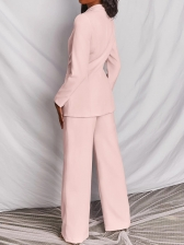 Casual Solid Business Blazer Two Pieces Suits