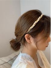 Korea Contrast Color Chain Hair Hoop