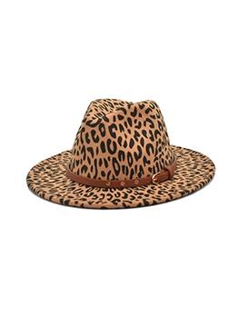 Outdoor Leopard Fedora Hat Women