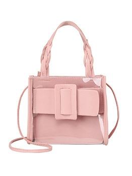 Korean Style Candy Color Transparent Shoulder Bags
