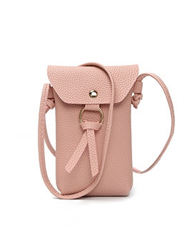 Simple Style PU Hasp Crossbody Phone Bag