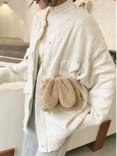 Cute Rabbit Ears Fuzzy Chain Shoulder Bag