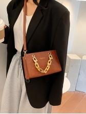 Minimalist Pure Color Chain Handle Crossbody Shoulder Bag