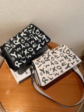Korean Style Letter Print Shoulder Bags
