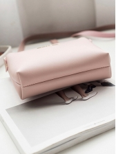 Simple Style Pure Color Shoulder Bags For Women