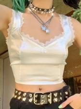 Sexy Lace Sleeveless Women Tank Top