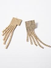 Fashion Rhinestone Tassel Earrings Women