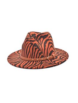 Retro British Style Zebra-Stripe Fedoras Hat