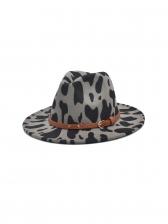 Contrast Color Wide Brim Fedora Hat