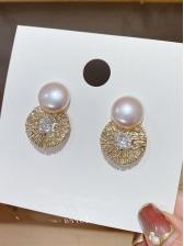 Online Trendy Versatile Faux-Pearl Earrings