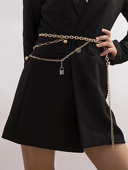 Vintage Create Lock Pendant Body Belt