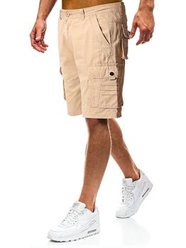 Summer Solid Pocket Short Trousers