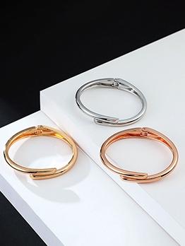 Simple Design Solid Versatile Bracelet For Ladies