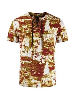 Summer Print Short Sleeve Vintage T Shirts