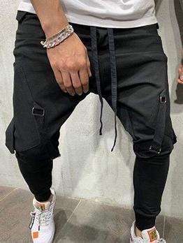 Fashion Solid Pocket Hip Hop Mens Pant