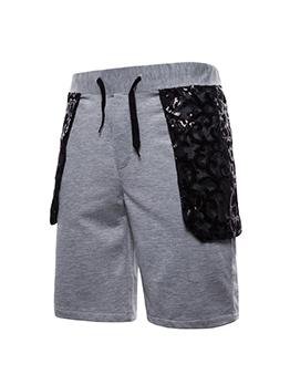 Fashion Patchwork Short Pants For Men
