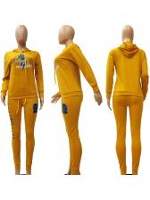 Cartoon Pattern Long Sleeve Hooded 2 Piece Sets