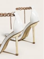 Euro Clear Pointed Toe High Heel Ladies Sandal
