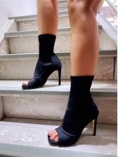 Stylish Peep-Toe High Heel Womens Boots