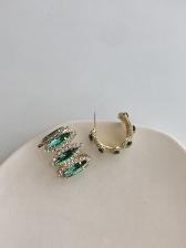 Office Lady Fashion Geometric Chic Earrings