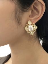 Faux-Pearl High-Grade Geometry Party Earrings