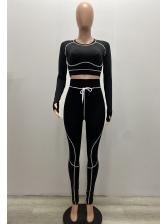 Euro Style High Waist Skinny Tracksuit Set