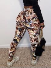Fashion Tie Dye Print Straight Long Pants