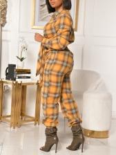 Contrast Color Plaid Jumpsuit For Women Autumn