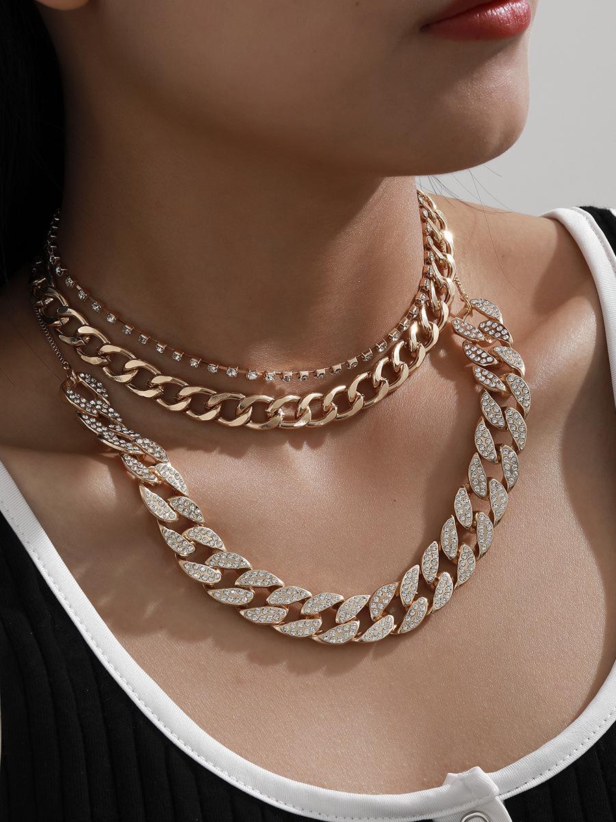 Temperament Full Rhinestone Punk Necklace For Women