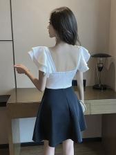 Korean Sexy Style V Neck Short Sleeve Dress