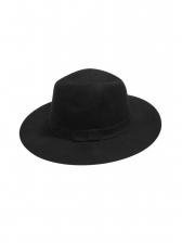 British Style Solid Wool Fedora Cap