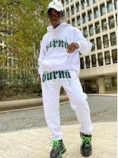 Contrast Color Letter Workout Clothes Men