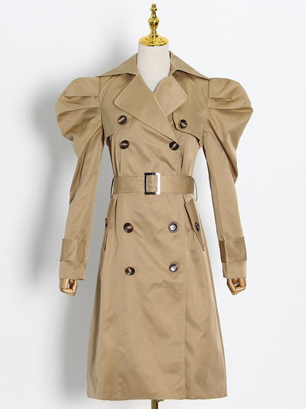 British Style Lapel Collar Boutique Trench Coat