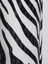 Animal Print Elastic Waist Straight Pants For Women