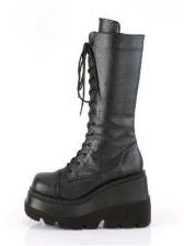 Fashion Round Toe Side Zipper Chunky Boots