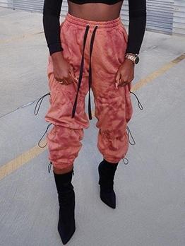 Trendy Tie Die Drawstring Pants For Women