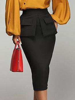 OL Style Pockets Women Pencil Skirt