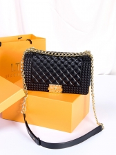 New Arrival Candy Color Rhombic Bag With Chain
