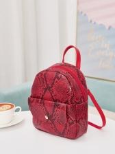 Multi-Color Snake Skin Print Mini Backpack For Women