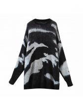 Contrast Color Loose Pullover Sweater Autumn