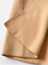 Fashion Solid Long Coat Women Winter