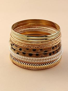 National Style Faux-Pearl Bracelet Set
