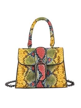 Colorful Snake Print Trapezoid Bag