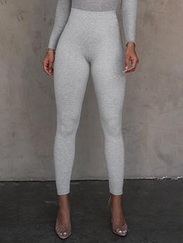 Skinny Solid Color Leggings For Women